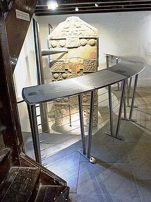 Nigg Stone - Nigg Stone, inside the church
