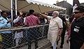 The Prime Minister, Shri Narendra Modi being welcomed by the public on his arrival, at Amreli, Gujarat on September 17, 2017.jpg