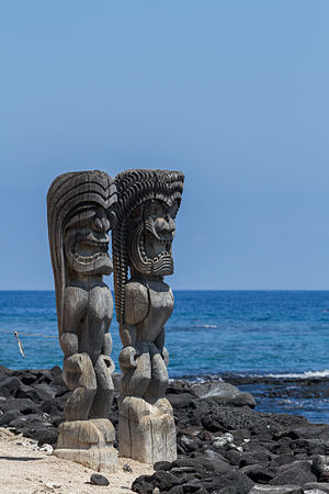 Puʻuhonua o Hōnaunau National Historical Park - Image: The Protectors