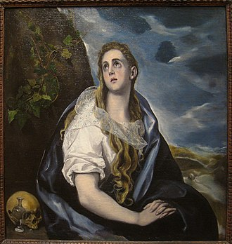1577 in art - Image: The Repentant Magdalen, circa 1577, by El Greco (1541 1614) IMG 7417