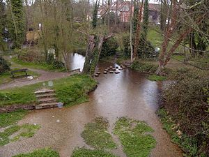 Ashwell Springs - Image: The Springs, Ashwell geograph.org.uk 774046