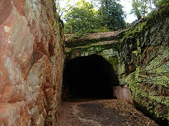 Helsby - Image: The Tunnel, Mountskill Quarry geograph.org.uk 175825