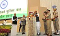 The Union Home Minister, Shri Rajnath Singh paying tributes on the occasion of the Valour day of Central Reserve Police Force, in New Delhi.jpg