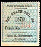 The United States 1870 Sc 5T1 California State Telegraph Company stamp.png