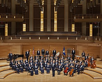 United States Air Force Band - The United States Air Force Concert Band with commander and conductor Colonel Larry H. Lang.