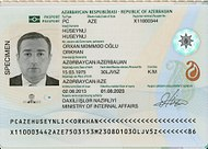 The data page of the Azerbaijani biometric passport.jpg