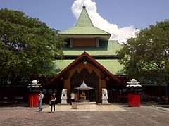 The front side of Sanggar Agung Temple, Surabaya-Indonesia, which is facing the sea.jpg