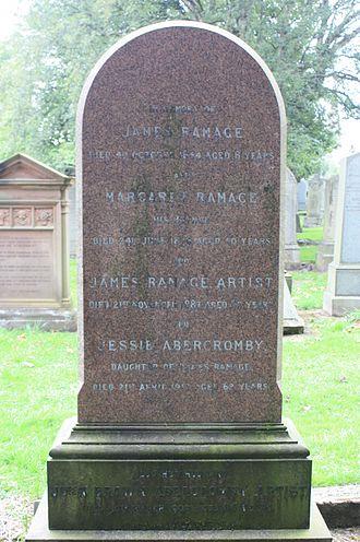 John Brown Abercromby - The grave of John Brown Abercromby, Grange Cemetery, Edinburgh