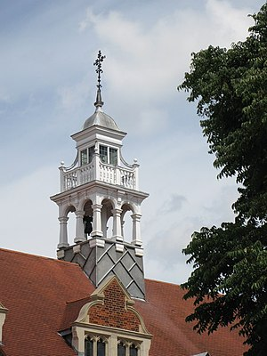 St Michael and All Angels, Bedford Park - Image: The spire of St Michael and All Angels, Bedford Park, W4 geograph.org.uk 899072