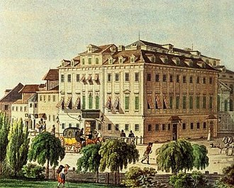 Beethoven concert of 22 December 1808 - The Theater an der Wien as it appeared in 1812. The theater still exists and thrives today as a major venue for opera.