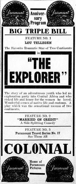 The Explorer (film) - Contemporary advertisement