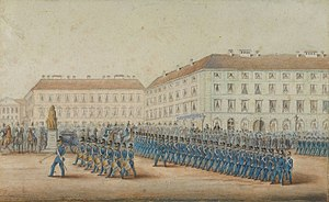Palais Leuchtenberg - Depiction of the palace in 1852