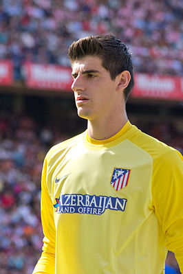 Courtois bij Atlético Madrid.