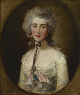 Grace Elliott - Portrait of Grace Elliot by Thomas Gainsborough, circa 1778 (in the Frick Collection)