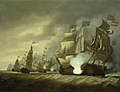 Thomas Luny (1759-1837) - HMS 'Victory' Raking the 'Salvador del Mundo' at the Battle of Cape St Vincent, 14 February 1797 - BHC0484 - Royal Museums Greenwich.jpg