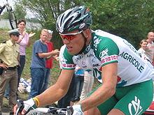Thor Hushovd impegnato al Tour de France del 2005 dove si aggiudica la prestigiosa classifica a punti.