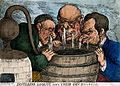 Three grisly distillers with streams running from their nose Wellcome V0019353.jpg