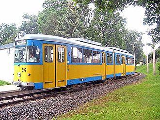 DÜWAG - Duewag - GT 6 ZR, EMU 592 of the Thüringerwaldbahn