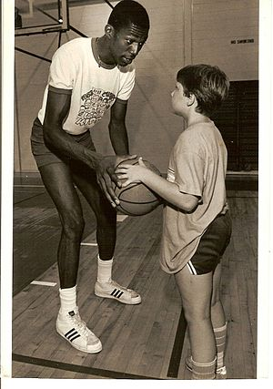Thurl Bailey - Thurl Bailey and Matt Henrich play one on one in Ft Bragg, North Carolina 1984