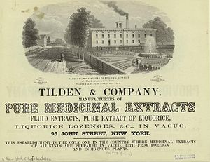 Samuel J. Tilden - 1856 advertisement for the Tilden Company