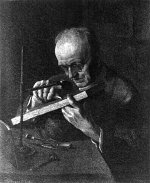 Timothy Cole - Wood engraving of Cole making a wood engraving