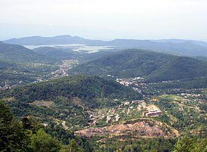 Tkibuli - Tkibuli. View from north.