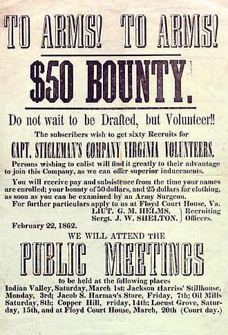 Military recruitment - Image: To Arms Confederate Enlistment Poster 1862