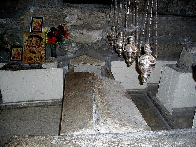 Гробница праведного Лазаря в церкви Святого Лазаря в Ларнаке.