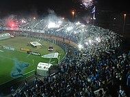 Torcida organizada do Avaí Futebol Clube durante jogo na Ressacada. 042295abe89f0