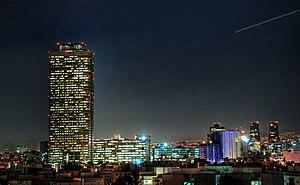 Torre Ejecutiva Pemex - Torre Pemex at night