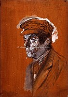 Toulouse-Lautrec - TETE D'HOMME A CASQUETTE, 1880, MTL.47.jpg