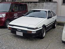 Toyota Sprinter Trueno 3 Door with white over black paint.