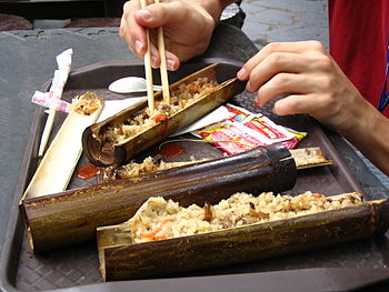 English: Traditional Taiwanese cuisine: Bamboo...