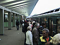 Train departs from Vyhino during morning rush hour.jpg