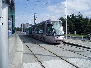 Tram at Tallaght - geograph.org.uk - 125222