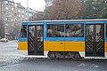 Tram in Sofia near Russian monument 082.jpg