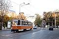 Tram in Sofia near St Nedelya Church 2012 PD 015.jpg