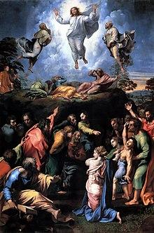 Verklärung Christi (1520), Raffaels letztes Werk (Quelle: Wikimedia)