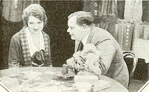 "Betty Ross Clarke - Still from the silent film Traveling Salesman, which starred Betty Ross Clarke (left) and Roscoe ""Fatty"" Arbuckle (right)."