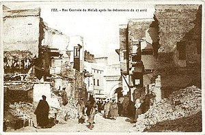 1912 Fez riots - Fez, following the events of 17 April 1912
