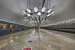 Troparyovo MosMetro station 02-2015 platform