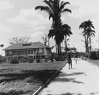 Indo-Caribbeans - Indian indentured laborers worked for decades for meagre wages in sugar cane plantations of the Dutch East Indies. This image from Tropenmuseum Royal Tropical Institute shows two Indo-Caribbean people walking towards the house of a Dutch engineer in a Caribbean sugar cane plantation.