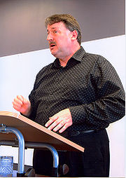 Chris Trotter speaking at the Alliance party conference in 2007