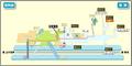 Tsurumai station map Nagoya subway's Tsurumai line 2014.png