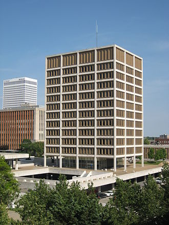 Downtown Tulsa - Tulsa's City Hall in the Civic Center until 2007.