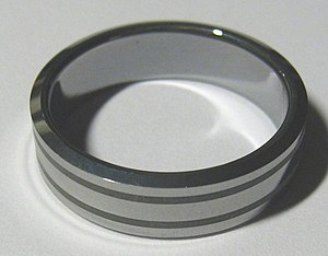Tungsten - Tungsten carbide ring (jewelry)