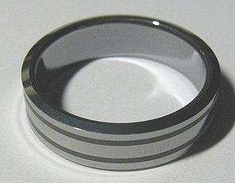 Tungsten - Tungsten carbide ring (jewelry)