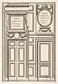 Two Designs for Doors, one at Versailles and one at the Hotel Cavois in Paris, plate II from the Series 'Portes a Placard et Lambris', published as part of 'L'Architecture à la Mode' MET DP834186.jpg