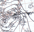 Typhoon Ida September 24, 1966 surface analysis.png