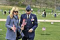 U.S. Air Force Academy (USAFA) Superintendent Lt. Gen. Mike Gould, right, and his wife, Paula, participate in a Memorial Day observance at the USAFA Cemetery in Colorado Springs, Colo., May 20, 2013 130520-F-JM997-852.jpg